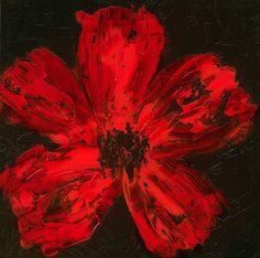 RED Poppy Fine art PRINT abstract original12 x 12 by devikasart, $26.00