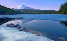 Mt. Hood from Trilium Lake, Oregon