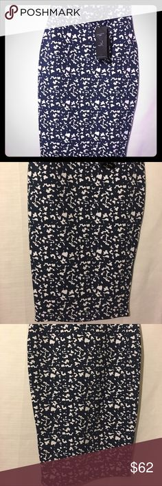 The fifth blue and white pencil skirt Very very stylish pencil skirt, closet must have. Great with heels, brand new with tags. All offers welcomed Skirts Pencil