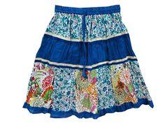 Holiday Skirt Royal Blue Multi Color Printed Patchwork Tiered Cotton Skirts Mogul Interior http://www.amazon.com/dp/B00KPQCRWS/ref=cm_sw_r_pi_dp_NRZRtb0TBXC9W3CD