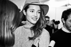 Malena Costa Backstage 080 Barcelona Fashion Week. Yerse A/W '14-'15