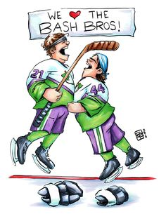 The Bash Brothers Art Print - Hand Drawn Art - Movie / Pop Culture / Ice Hockey / Kids Movies / Sports / Funny / Nursery Art Mighty Ducks Quotes, D2 The Mighty Ducks, Childhood Movies, 90s Movies, Ducks Hockey, Ice Hockey, Hockey Decor, Disney Channel Movies, Flying Together