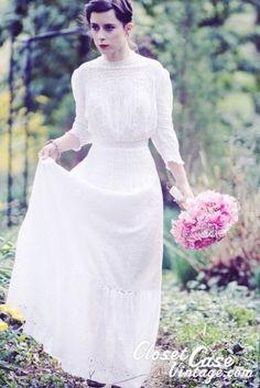 edwardian wedding dress by francisca