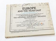 Europe and the Near East National Geographic Map, 1949