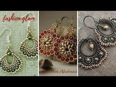 diy seeds and beads earrings/Beaded hoop earrings with bugle bead and seed beads - YouTube
