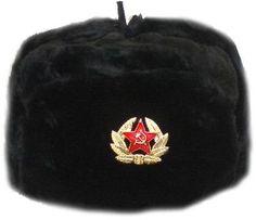 Hat Russian Soviet Army Black KGB * Fur Military Cossack Ushanka * Size M - http://www.styledetails.com/hat-russian-soviet-army-black-kgb-fur-military-cossack-ushanka-size-m - http://www.styledetails.com/wp-content/uploads/2013/01/41t-2BqFIB3QL1.jpg