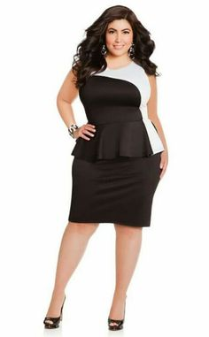 dcc377c8ba8 Techno Colorblock Peplum - Ashley Stewart I just purchased this beautiful  dress.