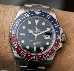 Rolex GMT-Master II 116719 BLRO Watch With Red  Blue Ceramic: Return Of The Pepsi Bezel | aBlogtoWatch
