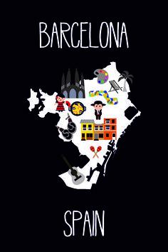 Barcelona poster #spain #map #maps #madrid #barcelona #gaudi #españa #catalunya #catalonia #ig_catalonia #ig_catalonia #catalunya #palmtrees #reizen #travel #spanje #bulls #sangria #paella #kidsinspo #instatravel #instakids #poster #kidsposter #monochromekidsroom #monochrome #blackandwhite #blackandwhitekidsroom #nursery #city #citymap