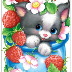 New Custom diy Diamond embroidery sale diamond Painting completely Cross Stitch kits Cartoon cat Mosaic pattern Wall stickers Cute Images, Cute Pictures, Baby Animals, Cute Animals, Kitten Images, Cute Animal Illustration, Cute Clipart, Cat Drawing, Animal Drawings