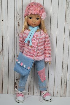 Dianna Effner Little Darling doll Sewing Doll Clothes, Crochet Doll Clothes, Sewing Dolls, Knitted Dolls, Ag Dolls, Girl Doll Clothes, Doll Clothes Patterns, Girl Dolls, American Girl Outfits