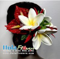 Tropical Hair Clip, Hula flowers accessories, Hula Hair Clip, Hula accessories supply Flowers, Plumeria Hair Clip, Anthurium Hair Clip, wholesale hawaiian hula and tahitian costume accessories supply in USA