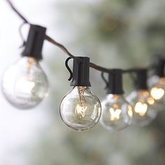 Globe String Lights | Crate and Barrel - for the balcony