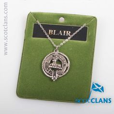 Blair Clan Crest Pendant. Free worldwide shipping available