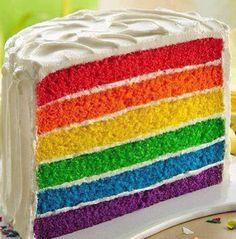 Rainbow cake <3