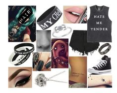 """#19✨"" by kenziebandgeek ❤ liked on Polyvore featuring Nana Judy, Converse and Fiebiger"