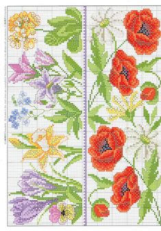 This Pin was discovered by Ner Cross Stitch Borders, Cross Stitch Alphabet, Cross Stitch Flowers, Cross Stitch Charts, Cross Stitch Designs, Cross Stitching, Cross Stitch Embroidery, Hand Embroidery, Cross Stitch Patterns