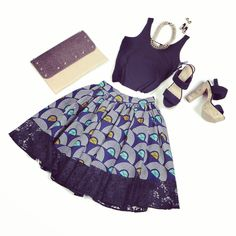african print skirt new spring fashion look~Latest African Fashion, African Prints, African fashion styles, African clothing, Nigerian style, Ghanaian fashion, African women dresses, African Bags, African shoes, Kitenge, Gele, Nigerian fashion, Ankara, Aso okè, Kenté, brocade. ~DK