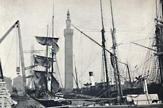 size: Photographic Print: 'Grimsby - View of the Docks, with the Hydraulic Tower', 1895 : Fishing Vessel, History Photos, Local History, Find Art, Old Photos, Sailing Ships, Nostalgia, Tower, Site Analysis