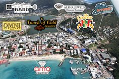 Philipsburg Sint Maarten | Aerial View of Philipsburg (East Side), Sint Maarten (Saint Martin)
