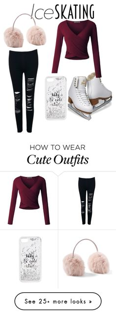 """""""Cute and unique"""" by ellerella on Polyvore featuring LE3NO, WithChic, Kate Spade and iceskatingoutfit"""