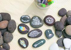 DIY Painted Rocks via 100 Layer Cake