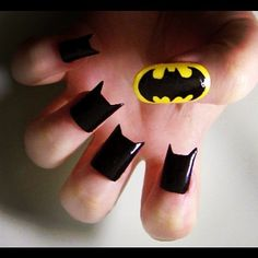 This photo made me laugh out loud 4 little batmen and the bat signal......I think for a chuckle I'll bring the pic to my manicurist