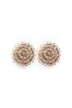 Adette Earrings in Champagne.