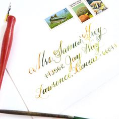 Watercolor Calligraphy Tutorial | The Postman's Knock