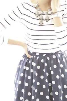 Love the stripes + dots together.