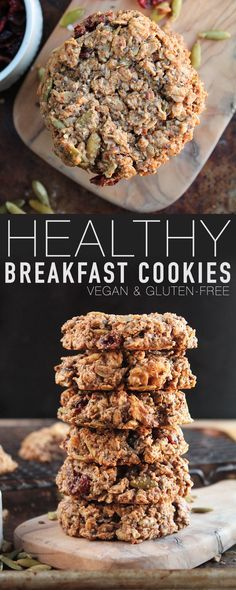Start your morning off right with this vegan and gluten-free breakfast cookie. F… Start your morning off right with this vegan and gluten-free breakfast cookie. Filled with protein, healthy fats, and superfoods for a satisfying and wholesome meal. Healthy Cookies, Healthy Sweets, Healthy Baking, Healthy Snacks, Healthy Fats, Healthy Recipes, Healthy Protein, Recipes With Dates Healthy, Vegan Protein Cookies