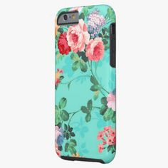 iPhone 6 Cases | Vintage Elegant Pink Red Yellow Roses Pattern iPhone 6 Case