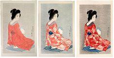 Torii Kotondo (1900-1976) Long Undergarment