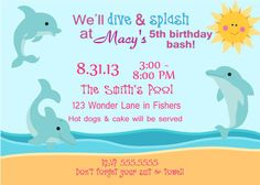 Digital Personalized Dolphin Beach by spencervillejunction on Etsy, $10.00