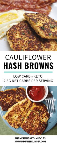 Hash browns smothered in ketchup are one of my favorite breakfast foods that I've been really missing since sticking to my Keto diet menu, but this cauliflower hash browns recipe is the perfect alternative, a pretty easy breakfast recipe and of course a k Diet Dinner Recipes, Diet Recipes, Healthy Recipes, Diet Menu, Keto Veggie Recipes, Shake Recipes, Keto Dinner, Bread Recipes, Crockpot Recipes