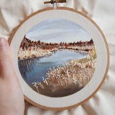 Life is fast paced and moments are fleeting. I hope codealina loves this embroidery and remembers the happy moments in this place every time she sees it! Embroidery Designs, Hand Embroidery Stitches, Modern Embroidery, Embroidery Jewelry, Embroidery Hoop Art, Cross Stitch Embroidery, Floral Embroidery, Couture Main, Art Textile