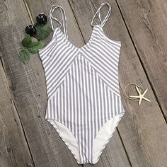 Cupshe All about Stripe One-piece Swimsuit | $19 | **BOUGHT: Awesome suit. Fits perfect!!**