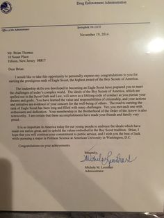 Eagle Scout Court Of Honor Letter Of Congratulations