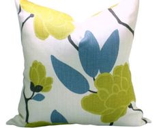 Yellow & Blue Pillows by Maria on Etsy
