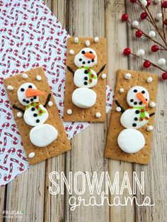 Snowman Grahams - What a neat edible art project for the elementary students as an alternative Christmas activity or the month of January!