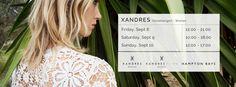 Stockverkoop XANDRES, XANDRES XLINE en HAMPTON BAYS -- Destelbergen -- 08/09-10/09