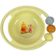 ABC-kulho, pyörivät helmet    Nalle Puh ABC- lastenastiat ovat valmistettu turvallisesta ja mikronkestävästä polypropyleenista.    ABC- kulhossa on kätevät kahvat, joista toisessa on kivat pyörivät helmet. Kulhossa on myös liukumaton pohja.