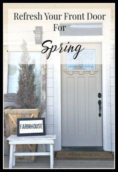 Refresh your front door for spring. | Twelveonmain.com