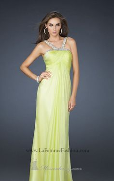 2014 New Style Chiffon evening gown by La Femme Dresses [17452]