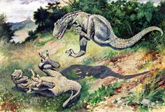Laelops-Charles Knight-1896 - Dinosauriërs - Wikipedia