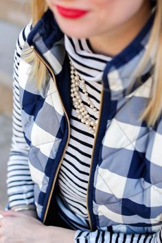 J.Crew Pearls and Mixed Prints