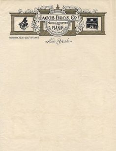 Letterhead: Jacob Bros. Co., date unknown. From letterheady.com