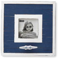 MUD PIE Navy Boat Cleat Frame