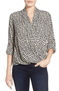 casual wrap blouse