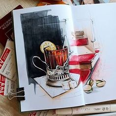 Скетч от @anna_sheryl #sketching #deserts #sketch #cake #drawing #idea #скетчинг #скетч #скетчмаркерами #markerrendering #sweet #desert
